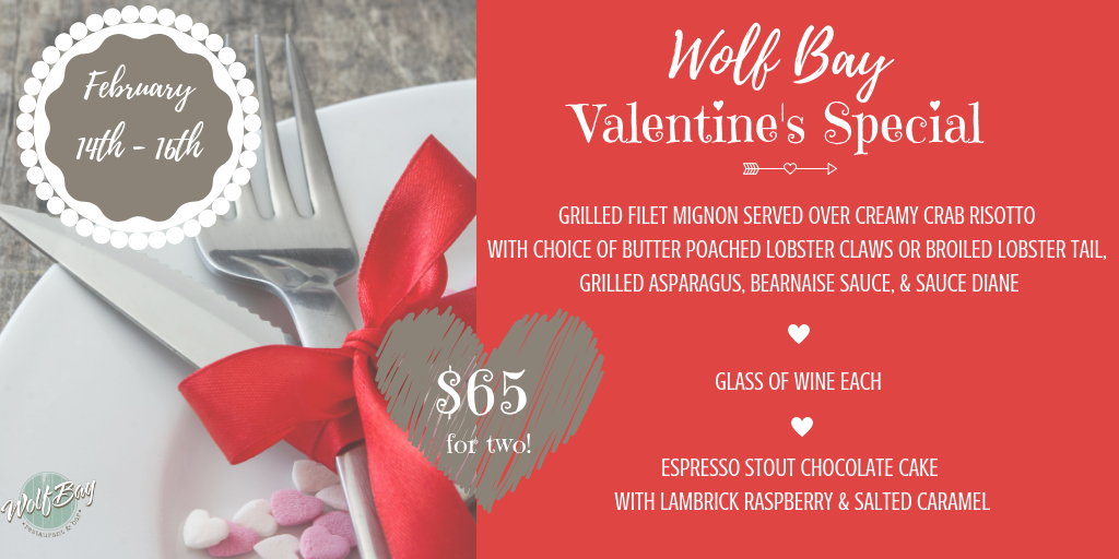 Valentine's Special at ALL THREE LOCATIONS!