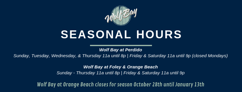 wolf bay seasonal hours
